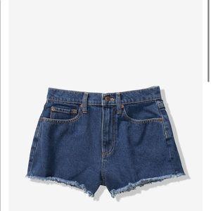 Victoria's Secret High Waist Denim Frayed Shorts